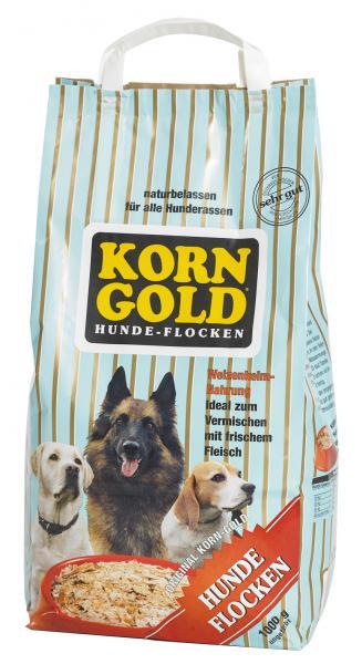 Hundefutter Korngold Hundeflocken Natur. Trockenfutter für Hunde