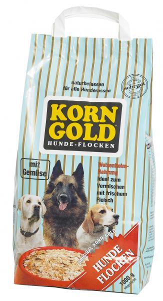 Hundefutter Korngold Hundeflocken mit Gemüse. Trockenfutter für Hunde