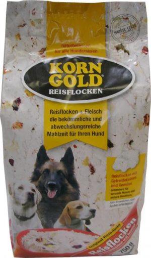Hundefutter Korngold Reisflocken für Hunde. Trockenfutter für Hunde